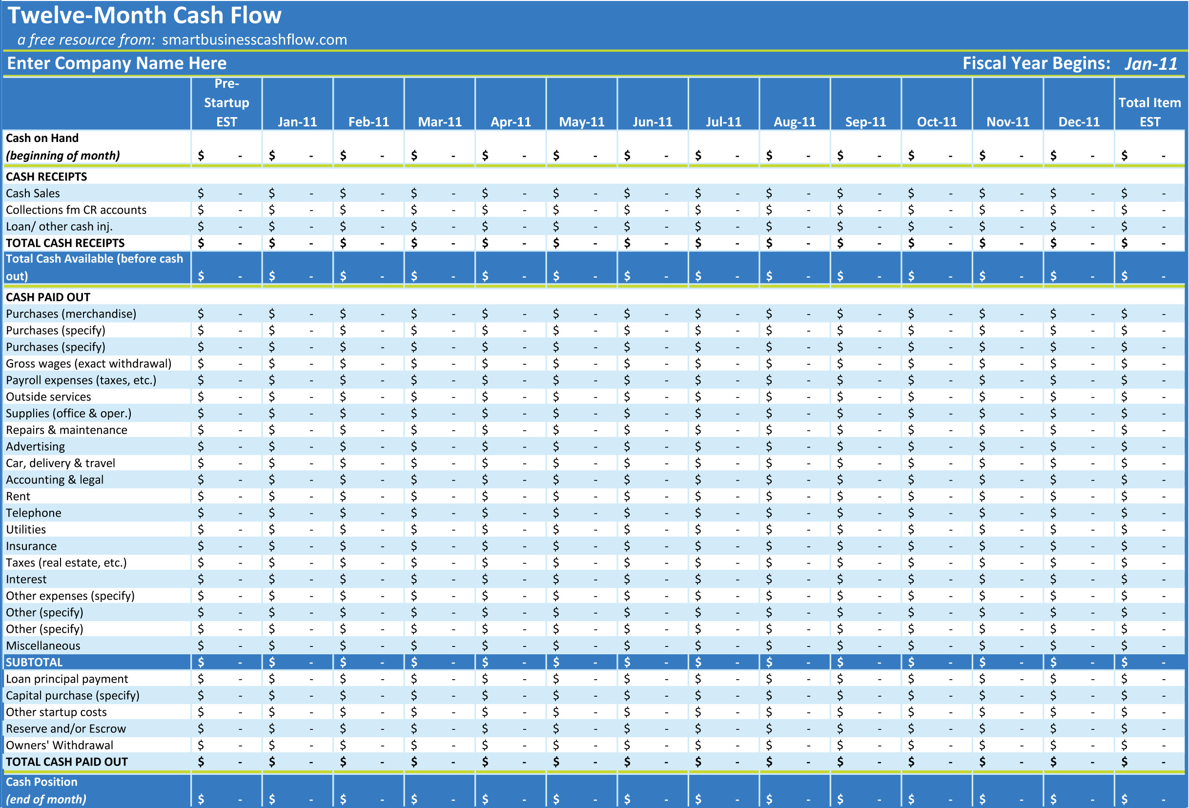 Daily Cash Flow Spreadsheet Db Excel