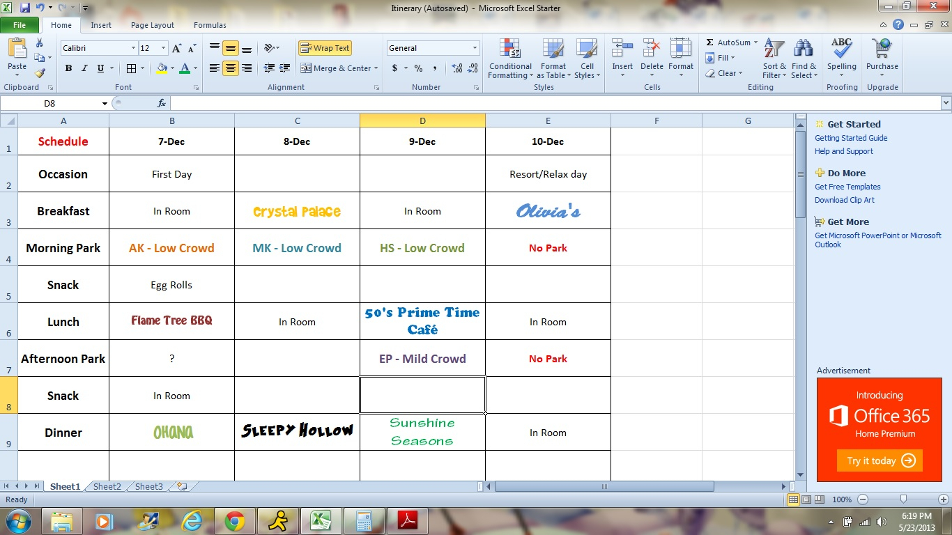 Disney Planning Spreadsheet For Do You Use A Spreadsheet