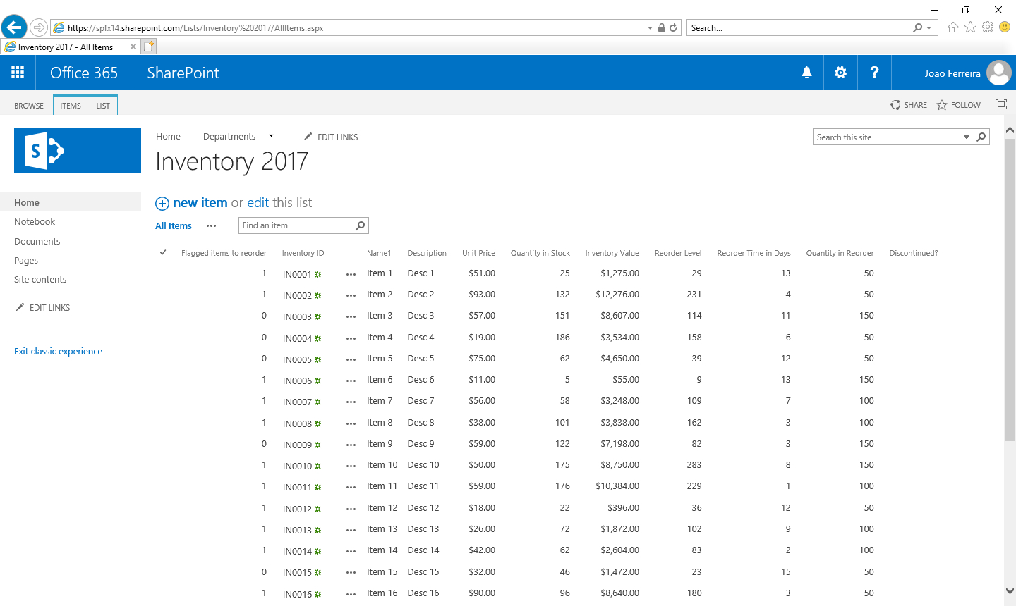 Display Excel Spreadsheet In Sharepoint