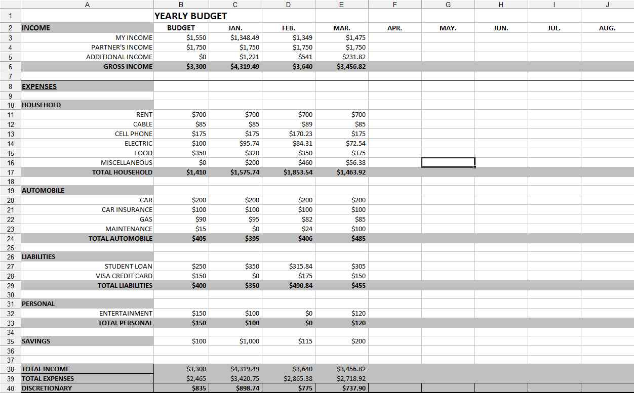 Easy Bookkeeping Spreadsheets Db Excel