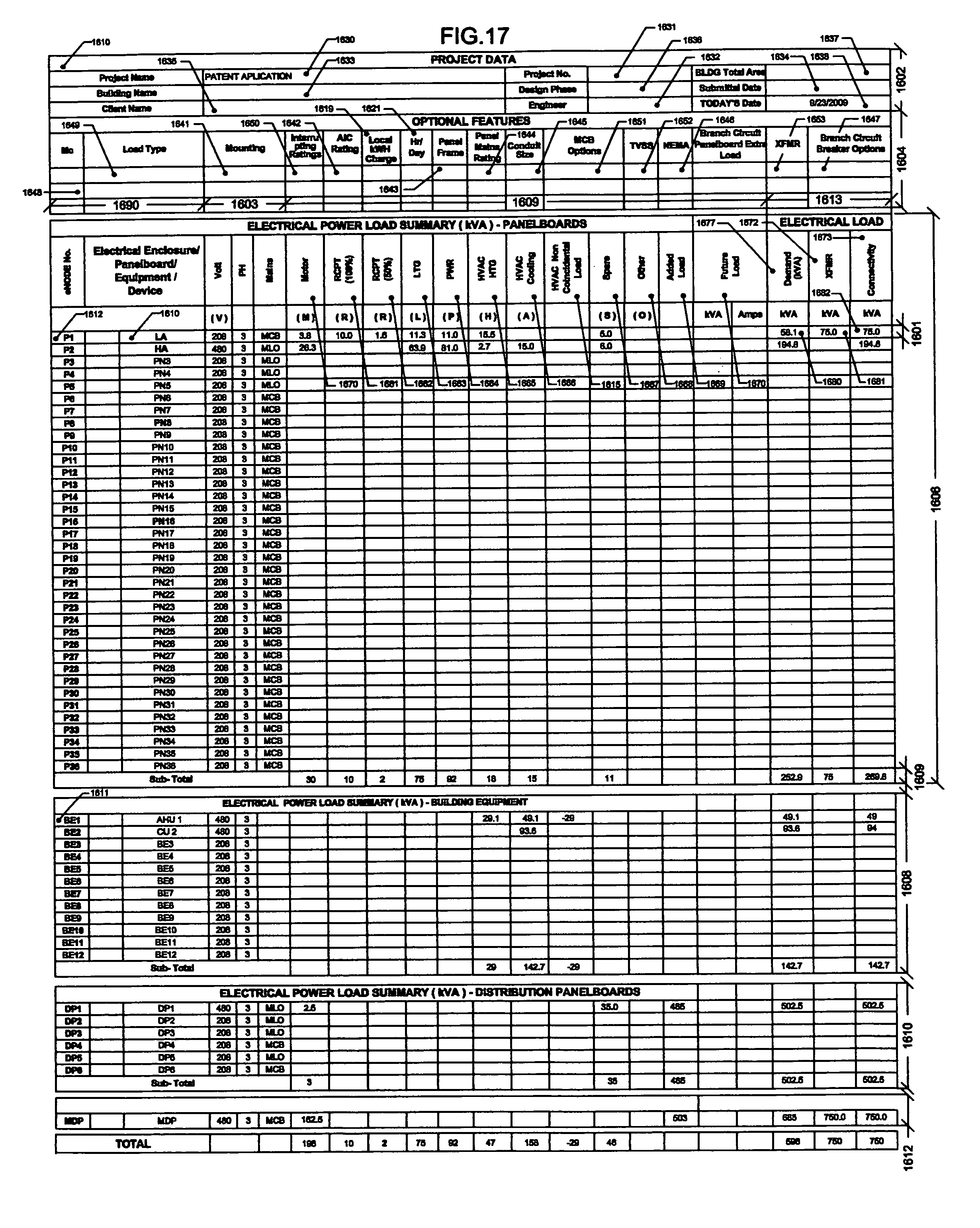 Electrical Loadysis Spreadsheet With Electrical Load
