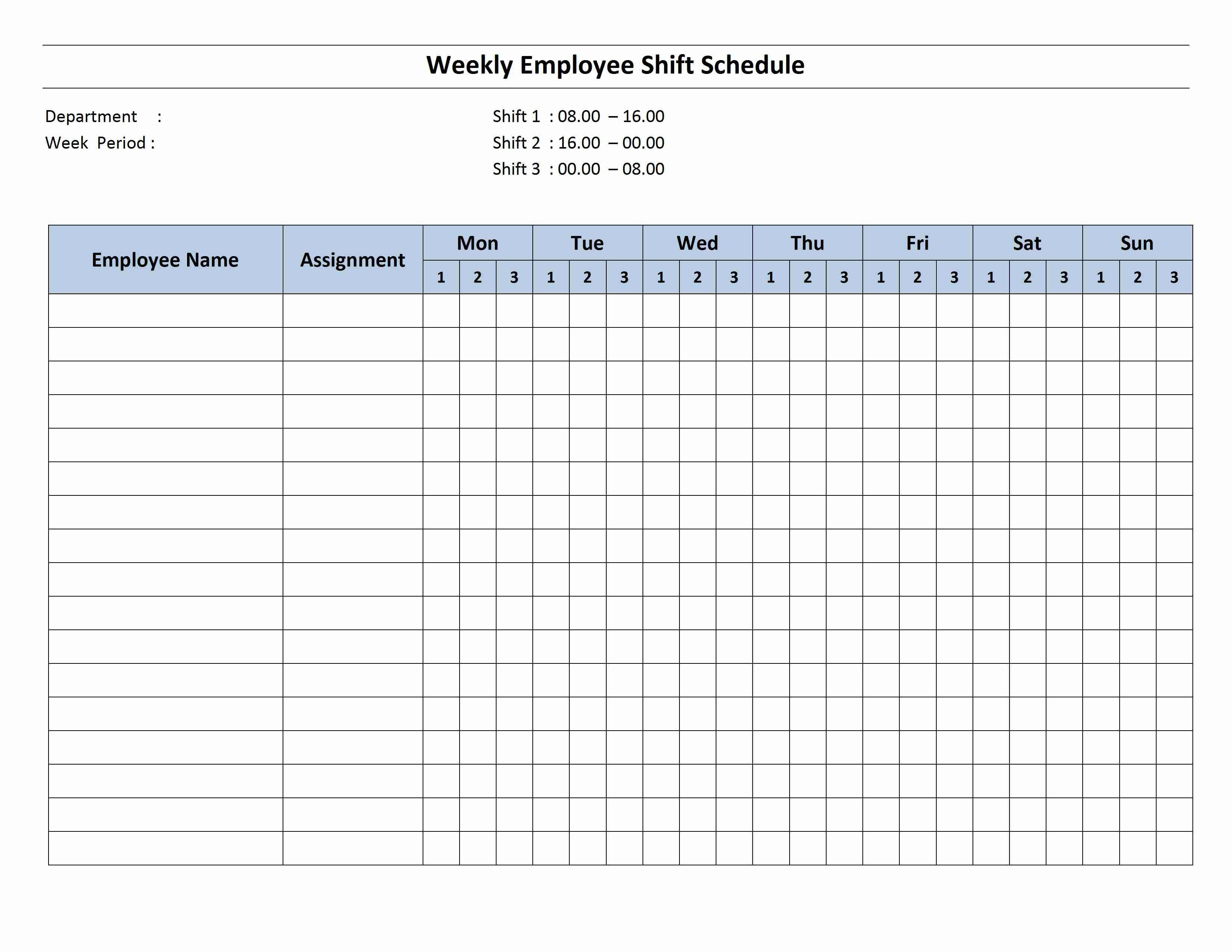 Employee Scheduling Spreadsheet Db Excel