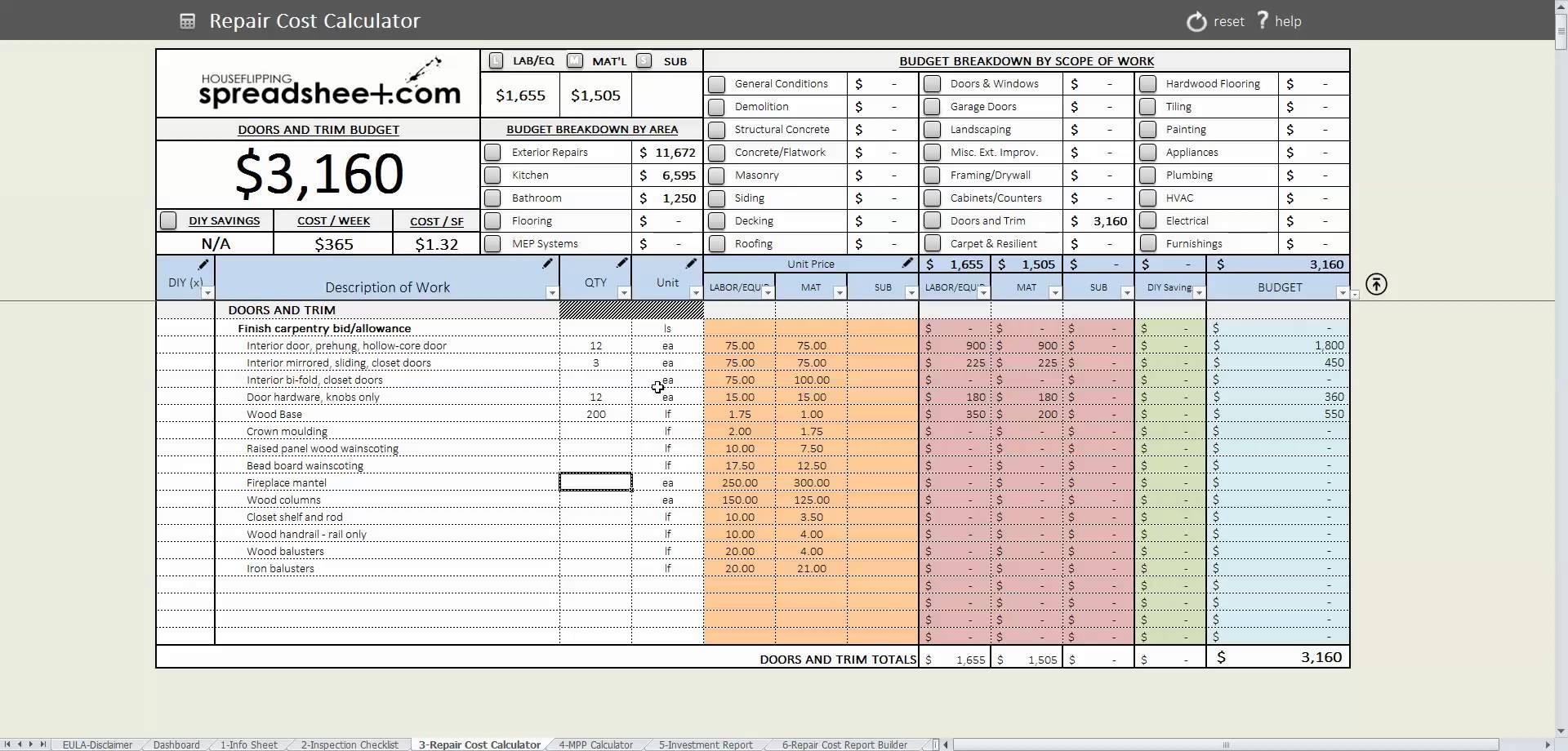 Estate Executor Spreadsheet Uk Printable Spreadshee Estate