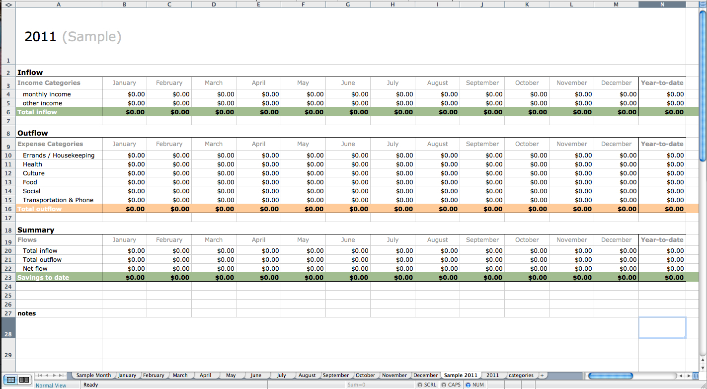 Excel Accounting Spreadsheet Templates With Regard To