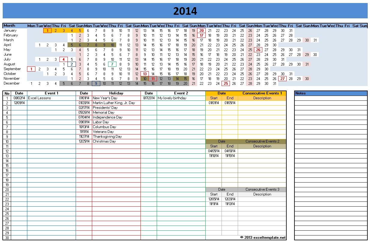 Excel Calendar Spreadsheet For Free Excel Calendar
