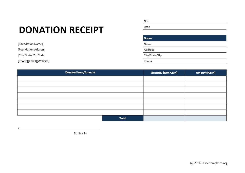 Excel Charitable Donation Spreadsheet Spreadsheet Downloa