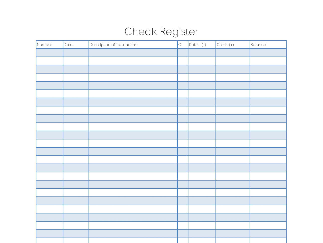 Excel Checkbook Spreadsheet Within Check Register Sheets