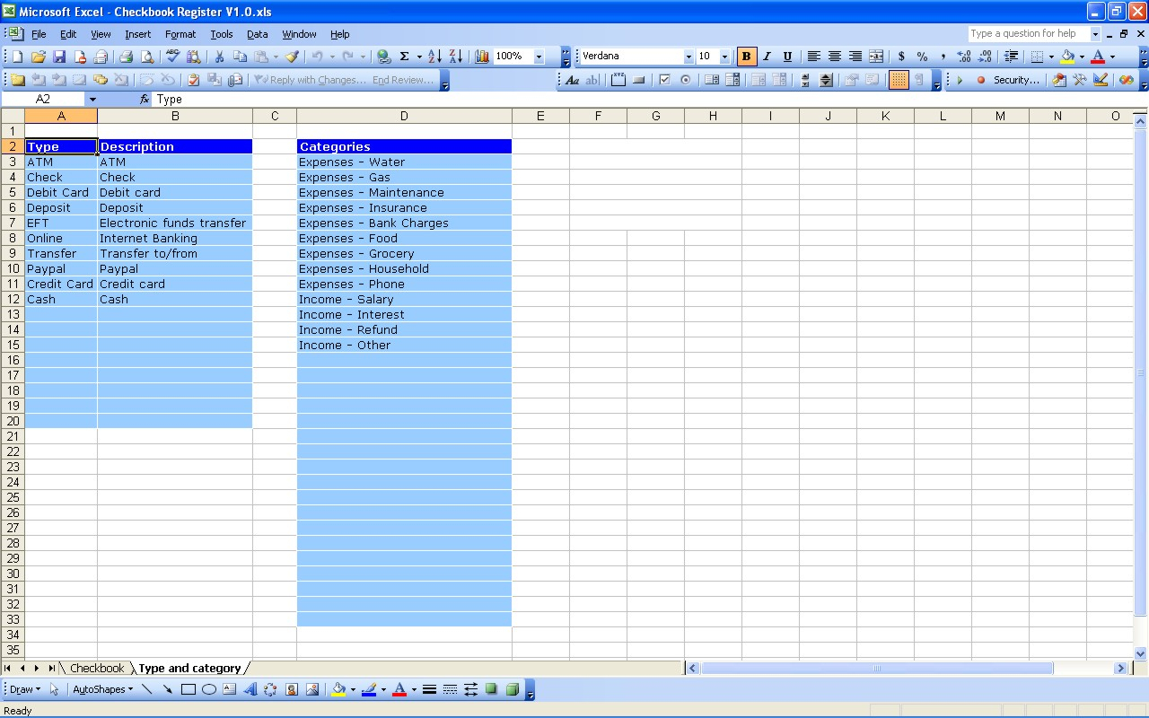 Excel Spreadsheet Check Register Db Excel