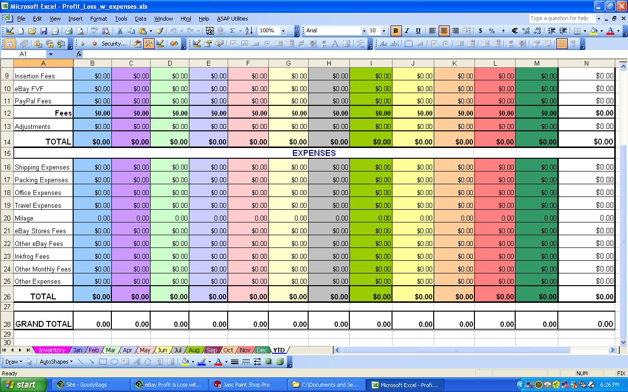 Excel Spreadsheet For Monthly Expenses Pertaining To Excel