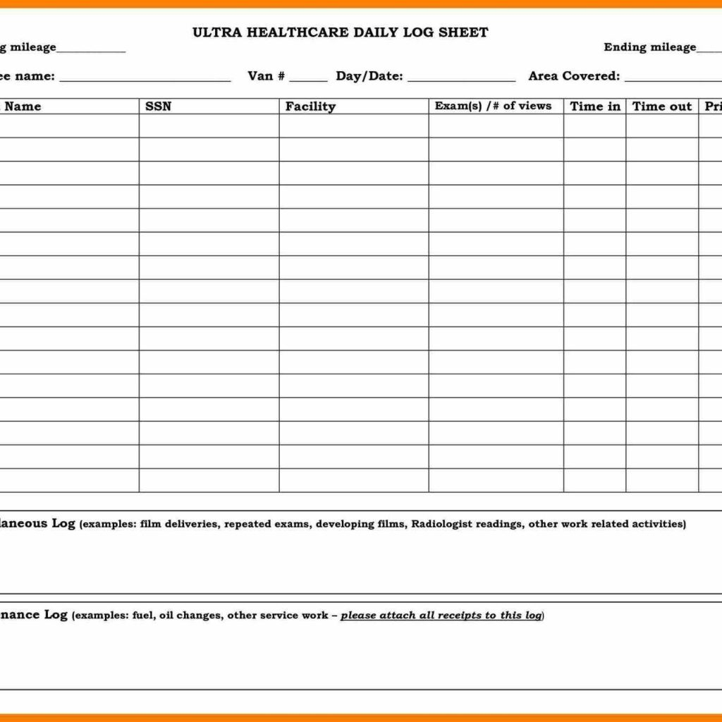 Excel Spreadsheet For Taxi Drivers For Driver Daily Log