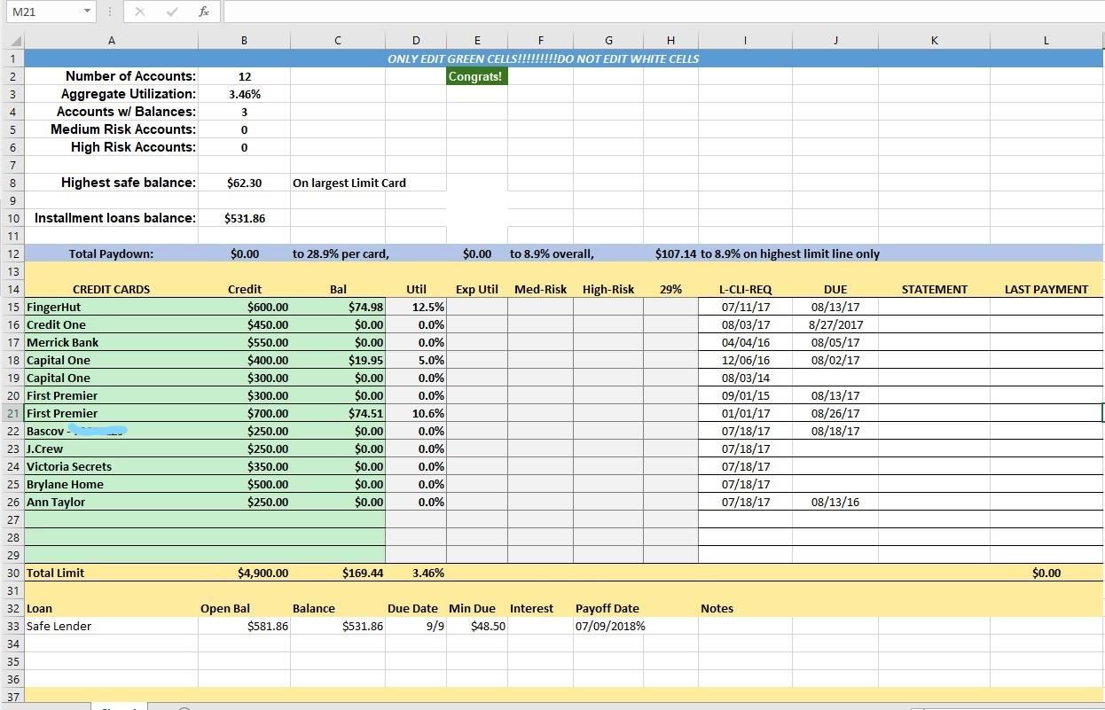 Excel Spreadsheet To Track Student Progress