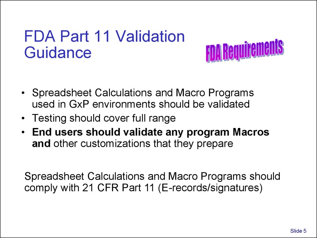 Excel Spreadsheet Validation Fda With Validation And Use