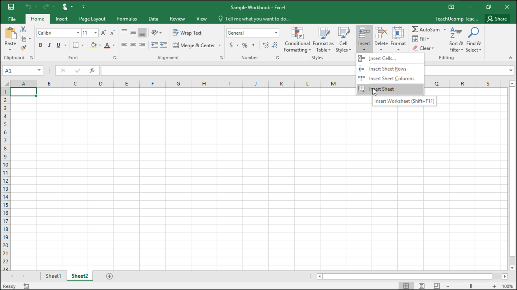 Excell Spreadsheets Within Inserting And Deleting