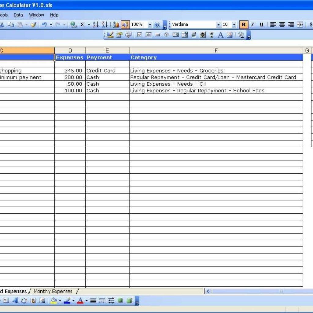 Financial Spreadsheet Example Spreadsheet Downloa Excel