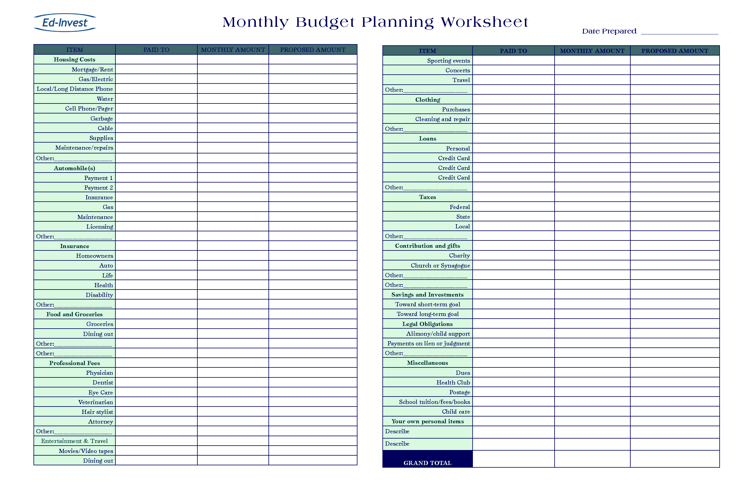 Financial Spreadsheet Template Excel For Financial