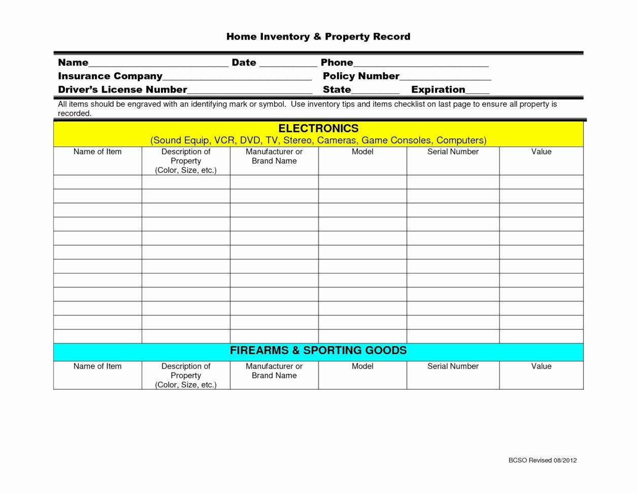 Firearms Inventory Spreadsheet Spreadshee Firearms Inventory Spreadsheet