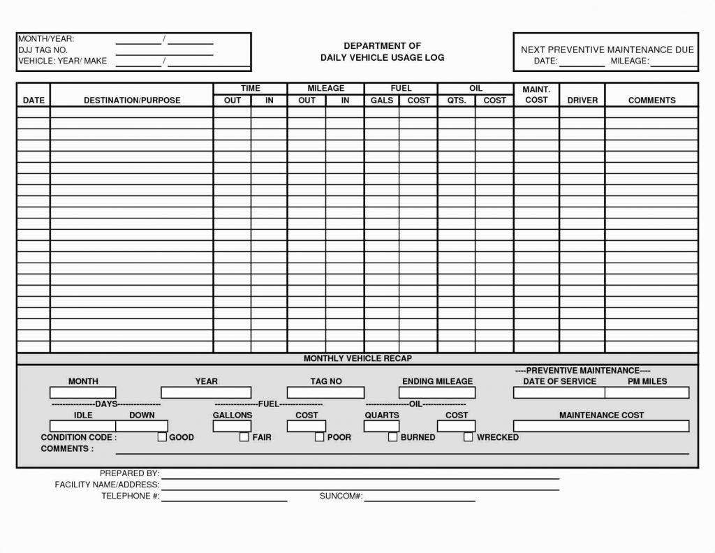Fuel Log Excel Spreadsheet Spreadshee Fuel Log