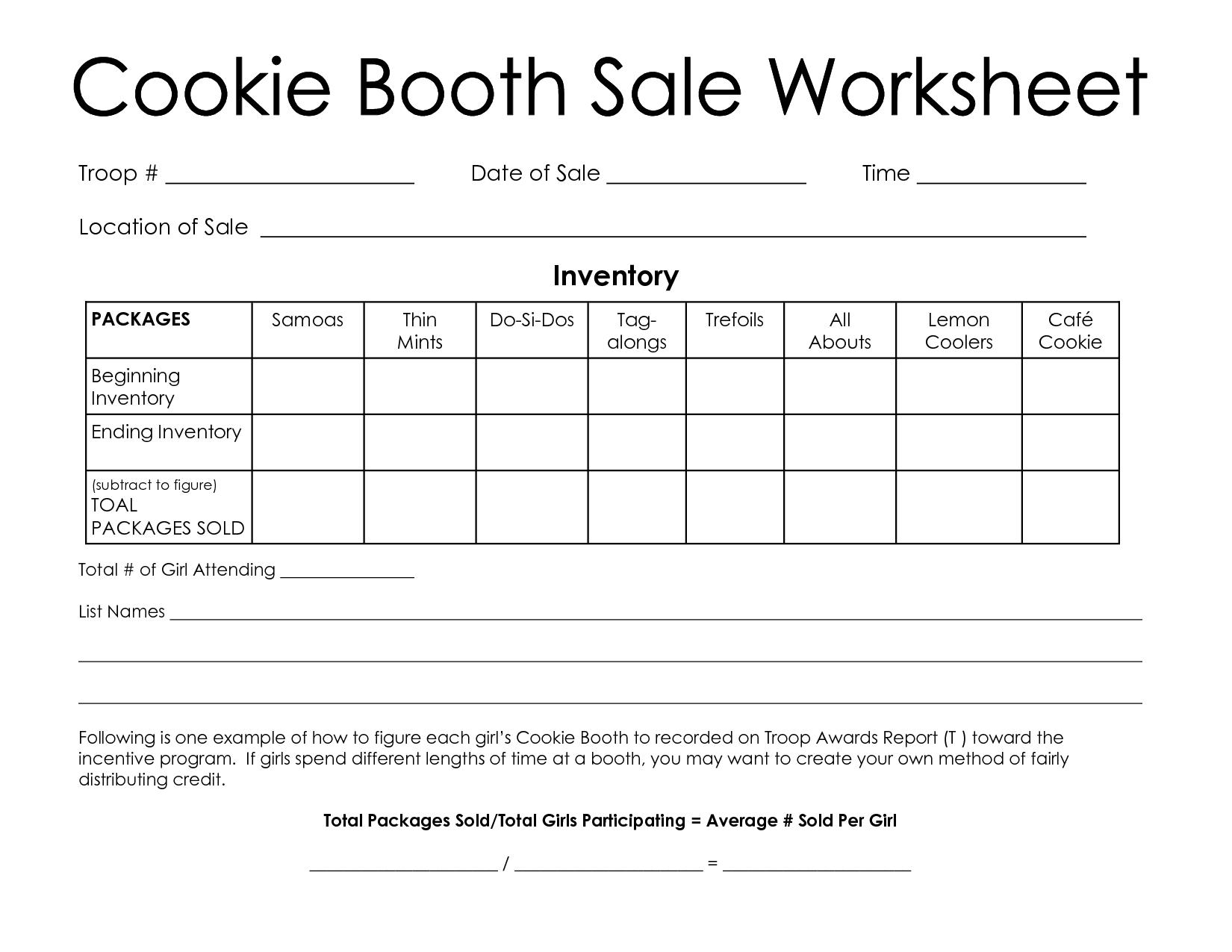 Girl Scout Spreadsheet Spreadshee Girl Scout Cookie Spreadsheet Girl Scout Cookie