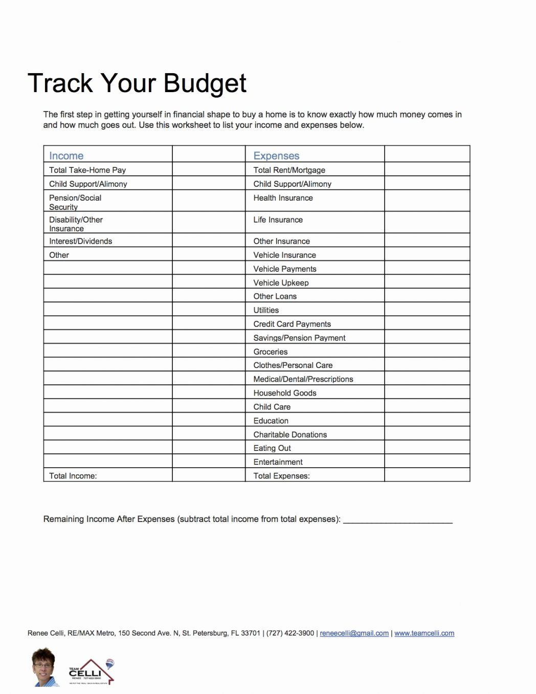 Home Buying Expenses Spreadsheet Db Excel
