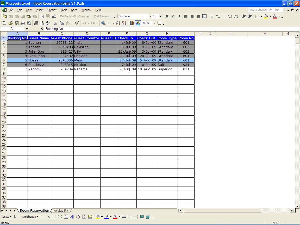 Hotel Revenue Management Excel Spreadsheet Db Excel