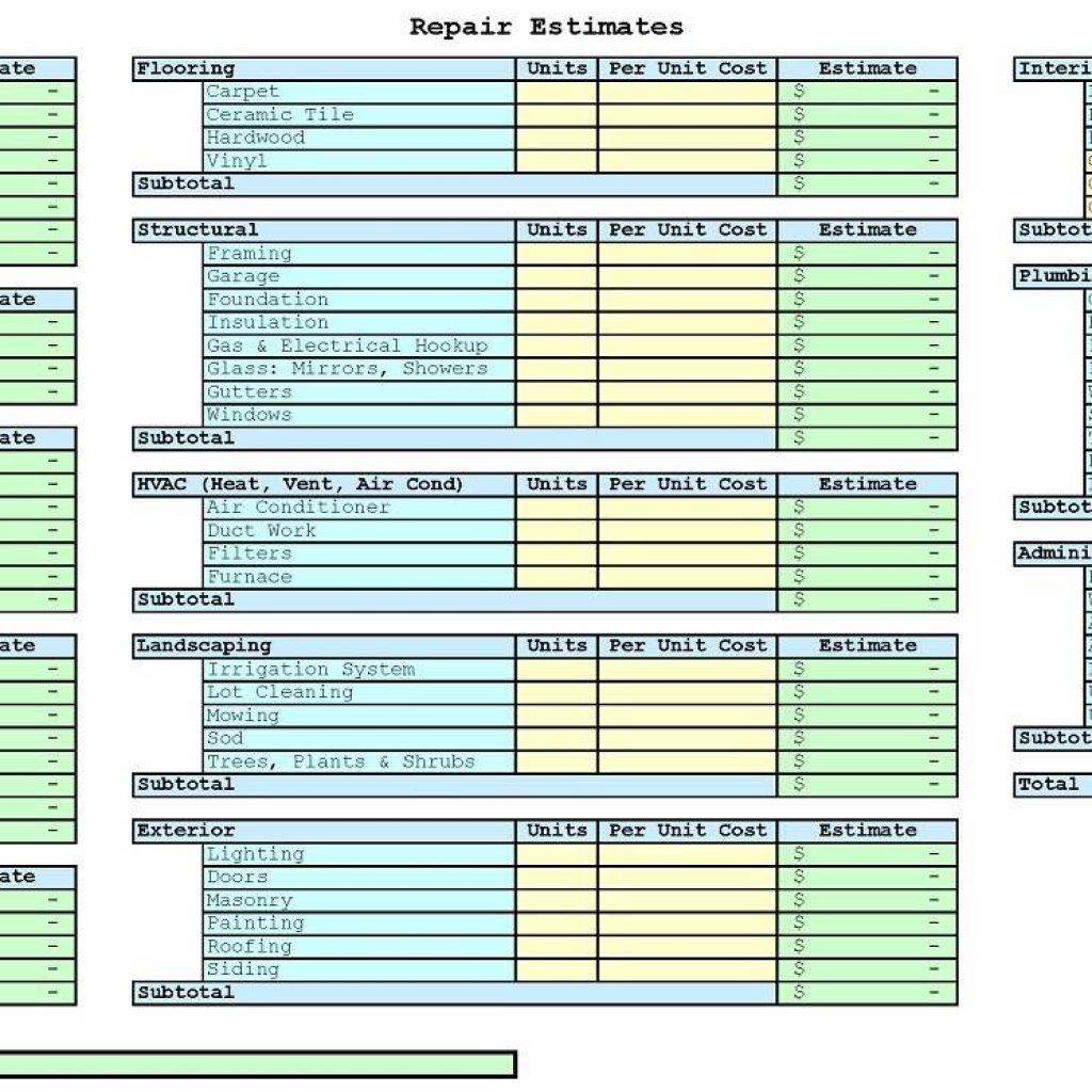 House Flipping Spreadsheet Download Pertaining To House