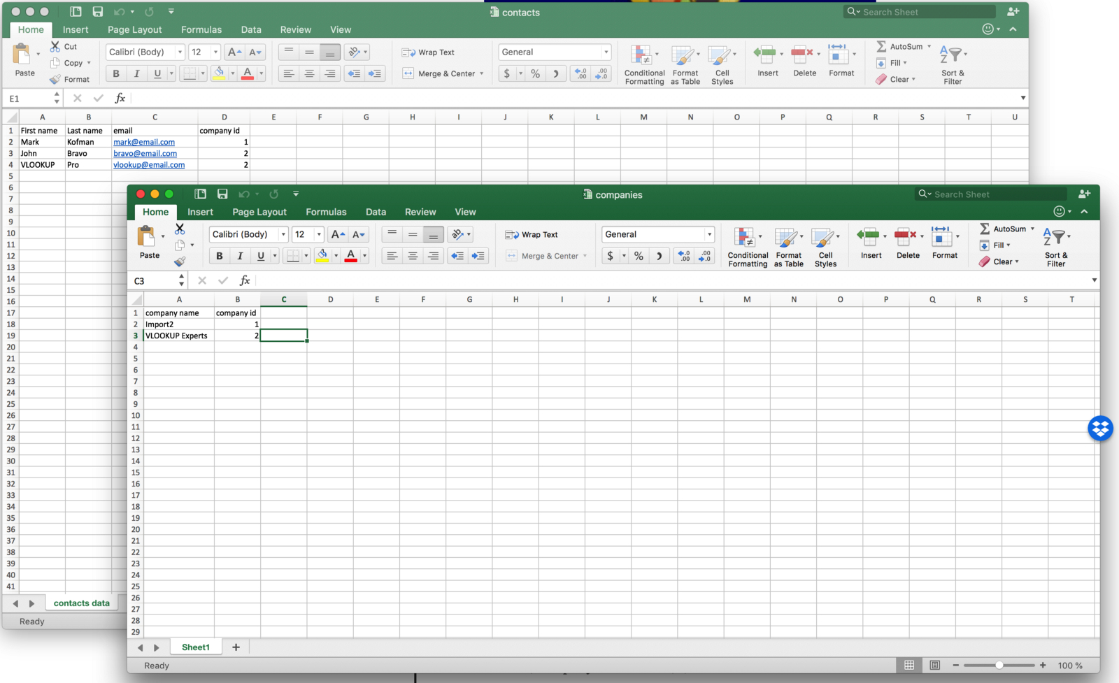 How To Do A Vlookup Between Two Spreadsheets With Regard