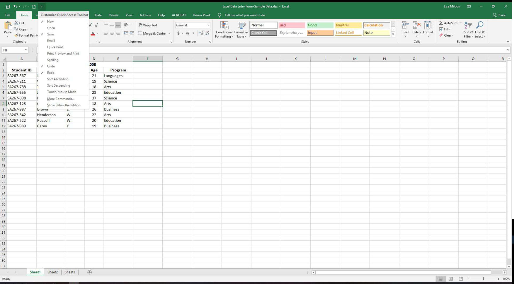 How To Make An Excel Spreadsheet Into A Fillable Form