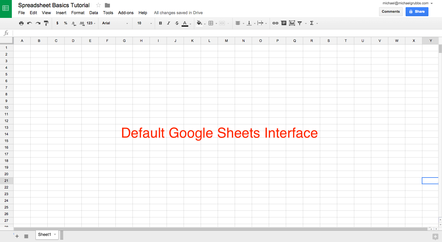 How To Setup A Spreadsheet Throughout Sheets 101