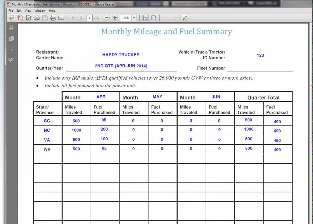 Ifta Mileage Spreadsheet Spreadshee Free Ifta
