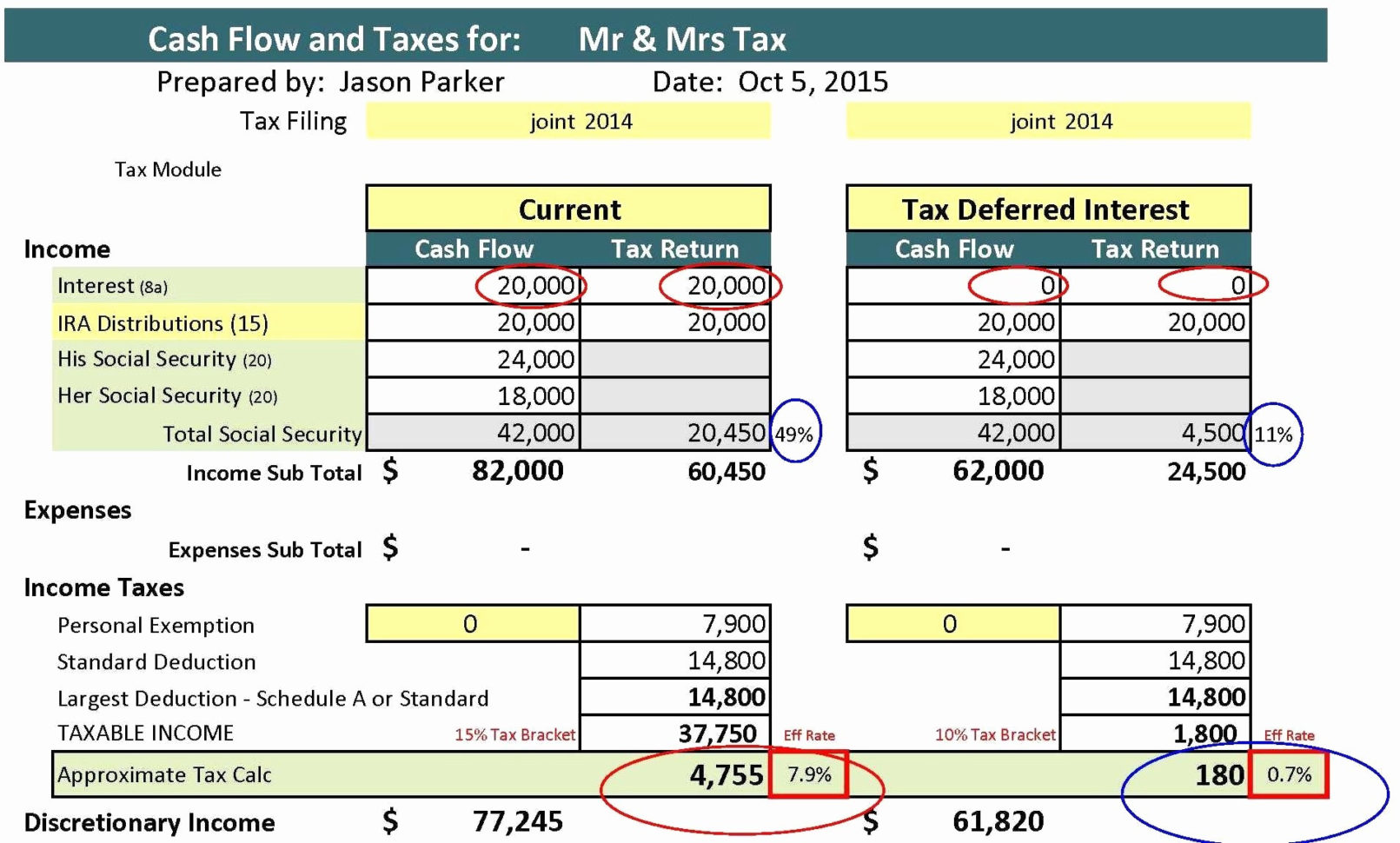 Individual Income Tax Worksheet