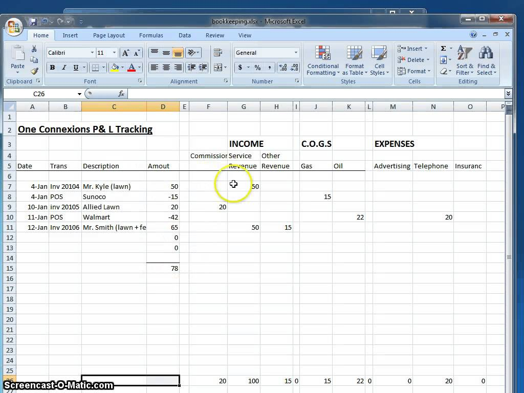 Independent Contractor Spreadsheet Pertaining To Example