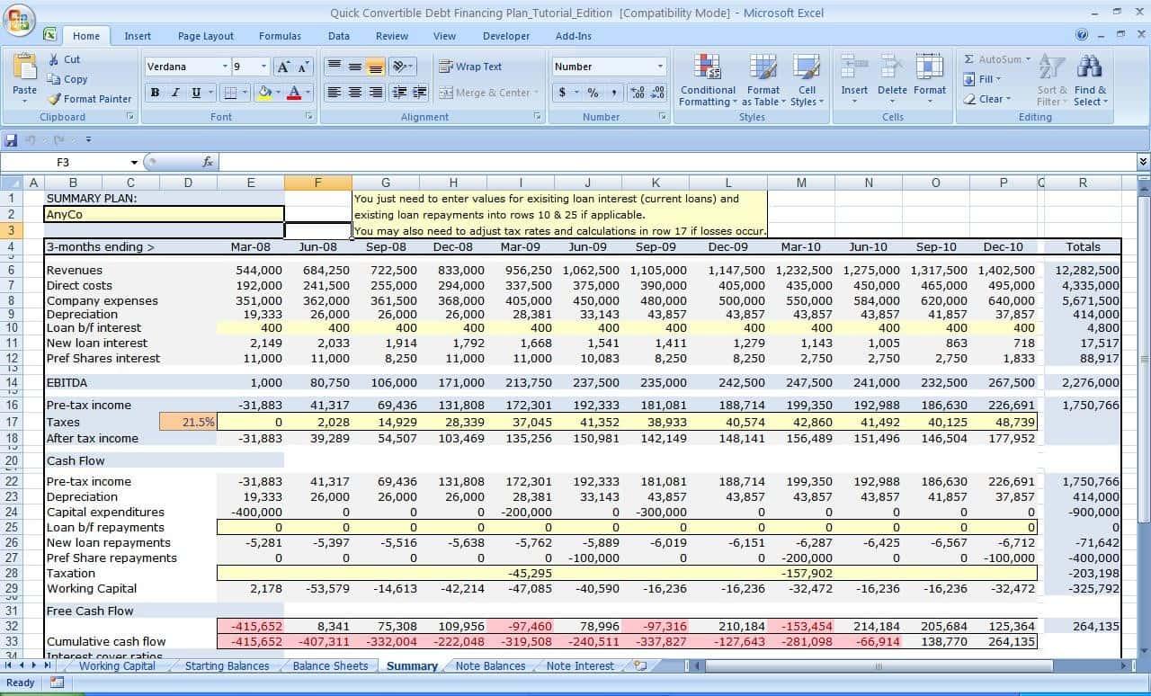 Inventory Planning Spreadsheet Db Excel