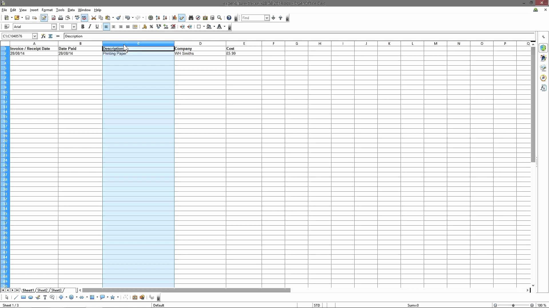 Landlord Spreadsheet Within Expense Tracker Spreadsheet