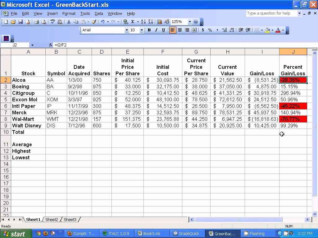 Learning Microsoft Excel Worksheets