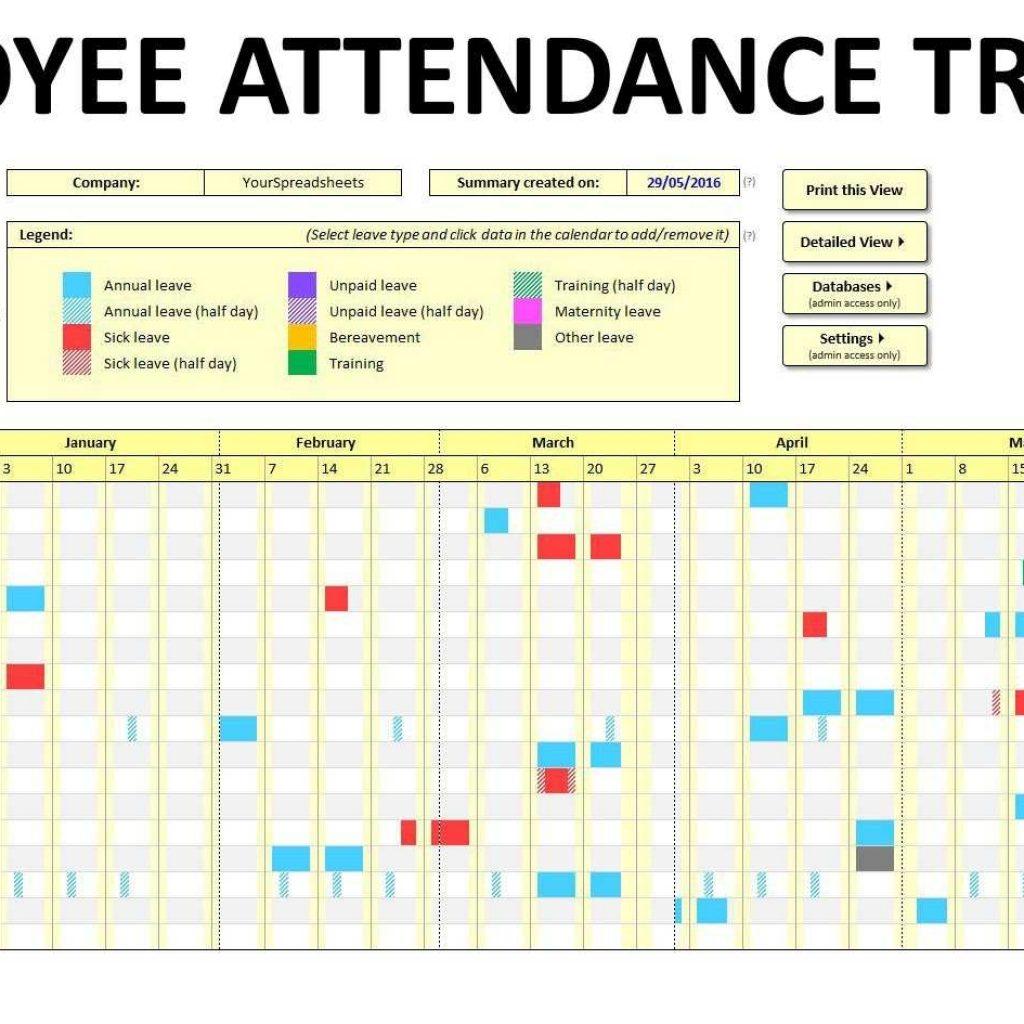 Employee Leave Worksheet