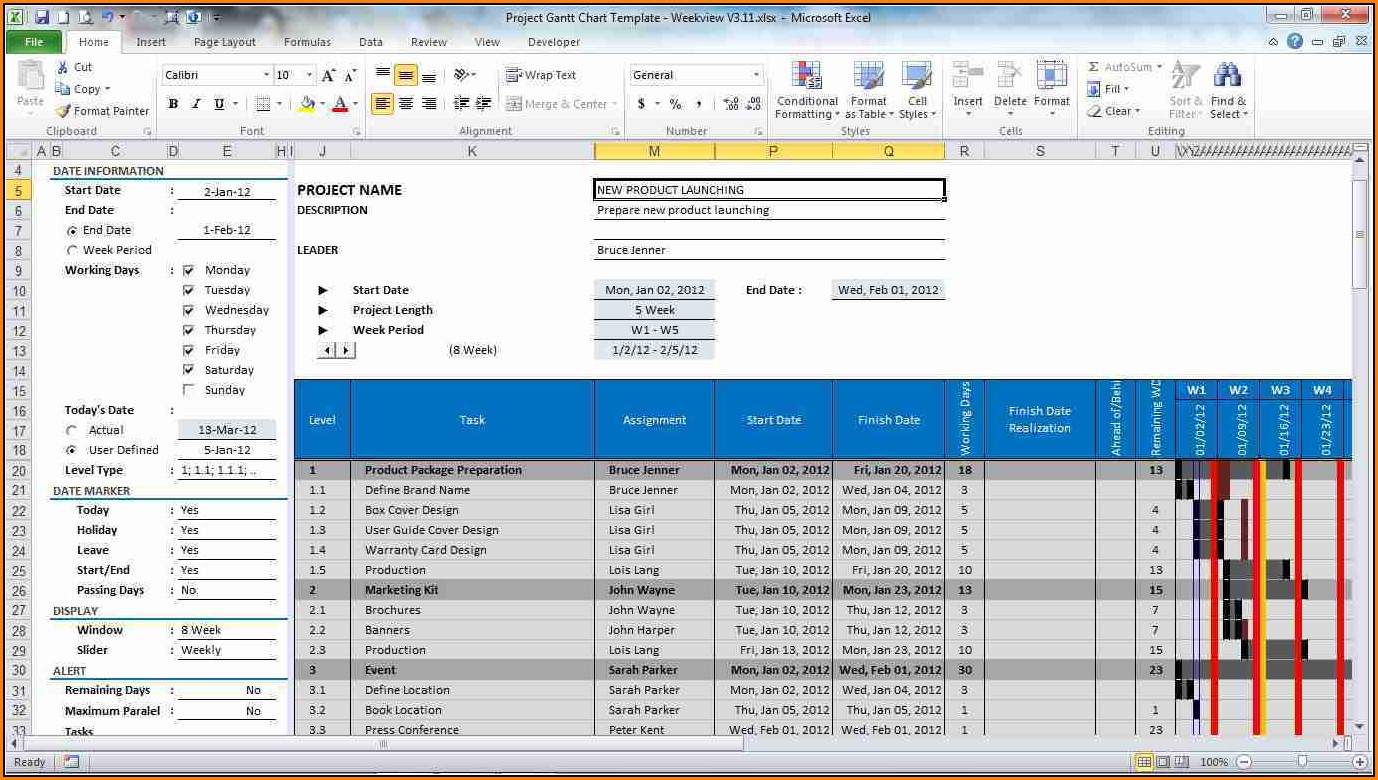 Lien Waiver Tracking Spreadsheet Inside Free Excel Project