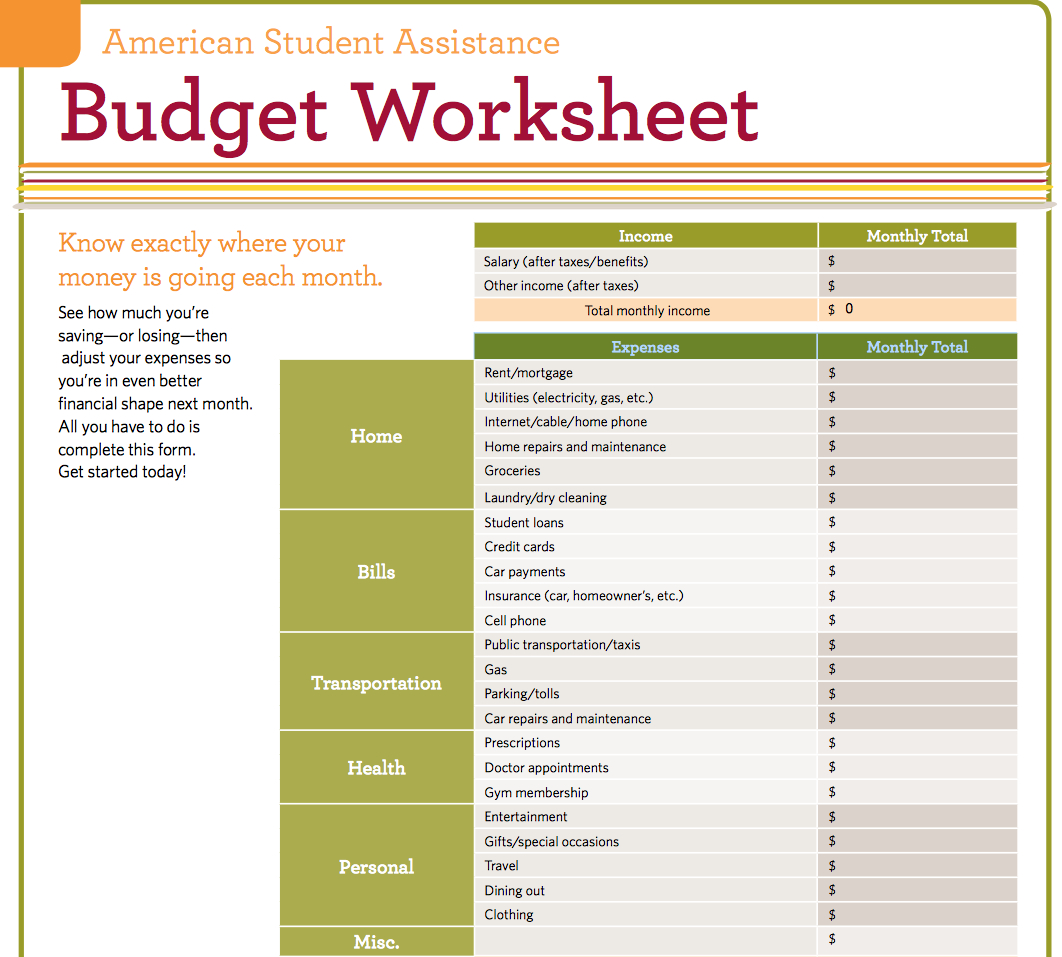 Living Budget Spreadsheet Spreadshee Living Budget