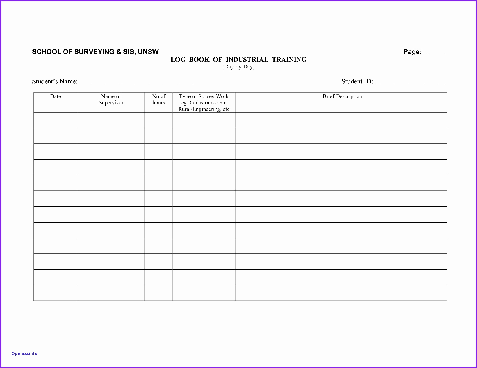 Log Book Auditing Spreadsheet Db Excel
