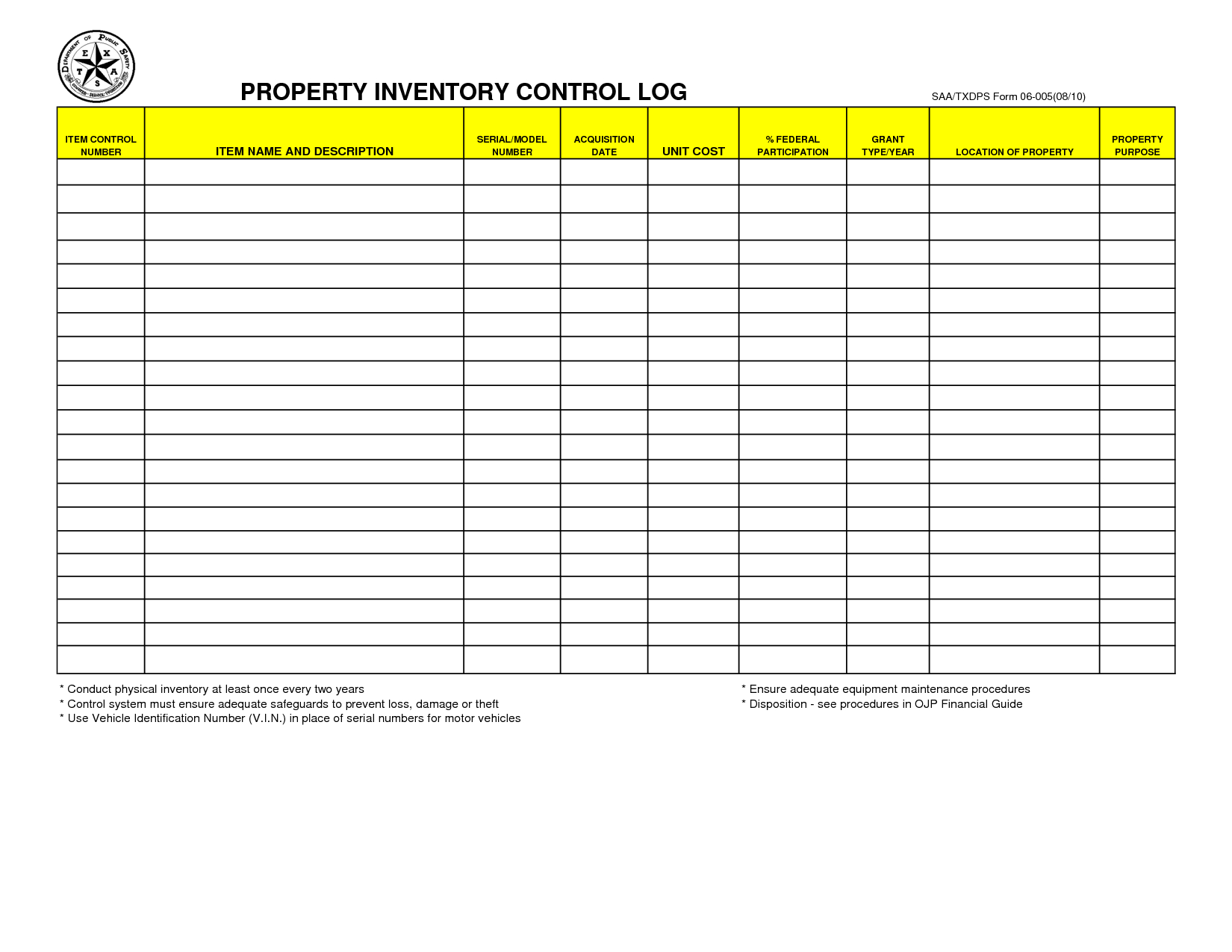 Maintenance Inventory Spreadsheet Intended For Small