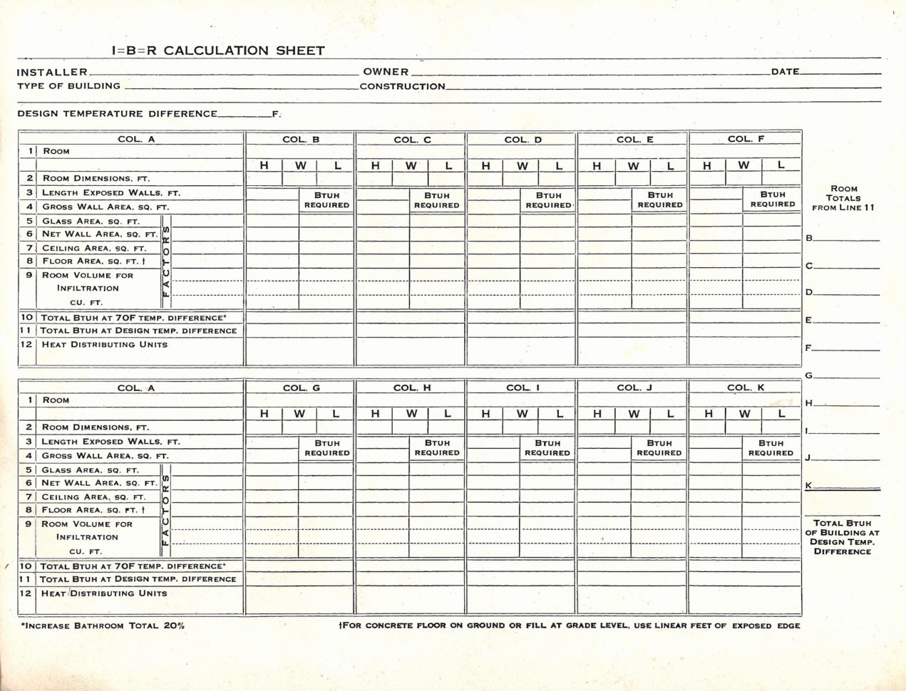 Manual J Load Calculation Spreadsheet For Example Of Hvac