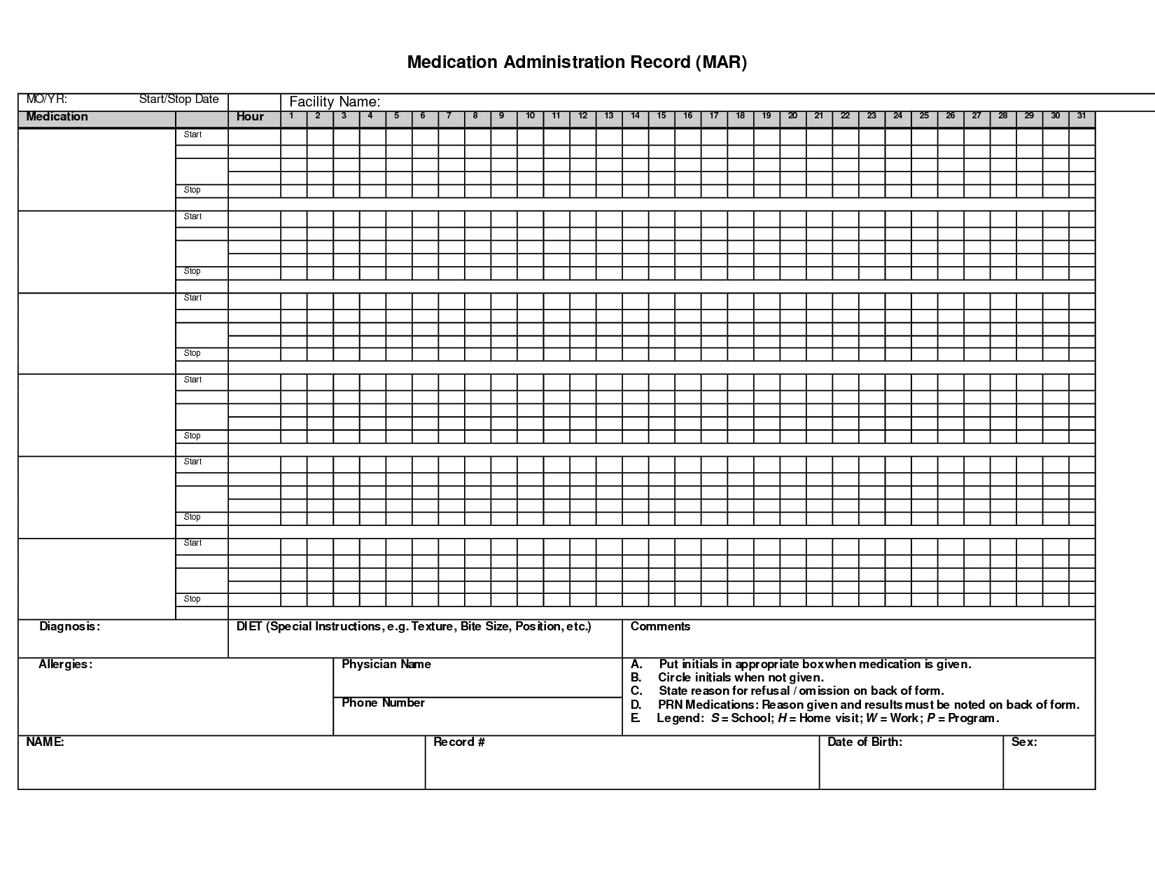 Medication Spreadsheet Organizer Spreadsheet Downloa Free