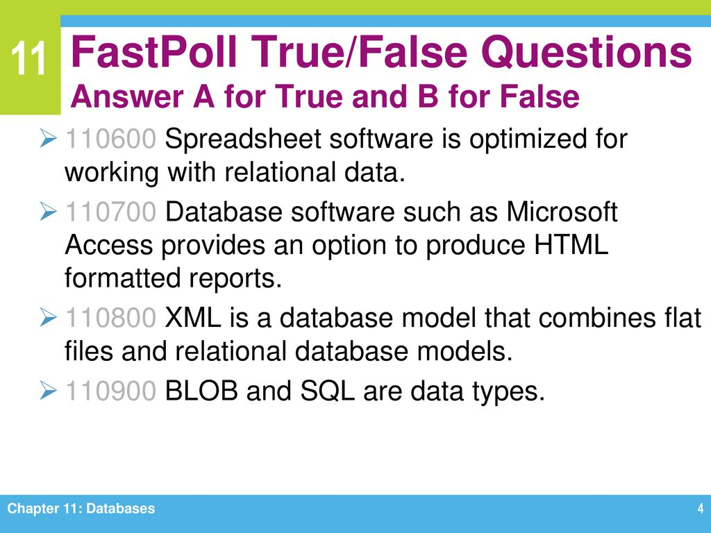 Microsoft Access Is Spreadsheet Software True Or False For