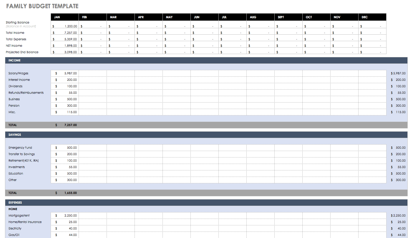 Monthly Bills Spreadsheet Template Excel Spreadsheet