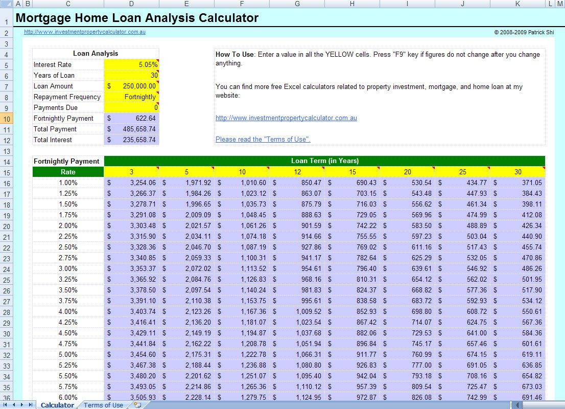 Mortgage Calculator Excel Spreadsheet Spreadshee Mortgage Amortization Calculator Excel