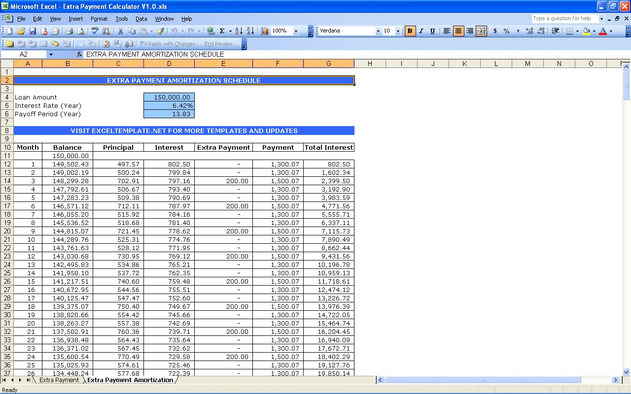 Mortgage Payment Excel Spreadsheet With Mortgage