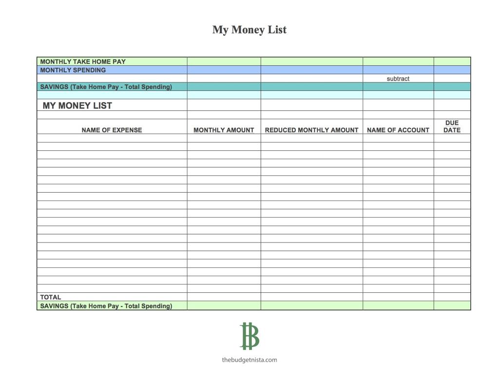 My Budget Spreadsheet Spreadshee My Money Coach
