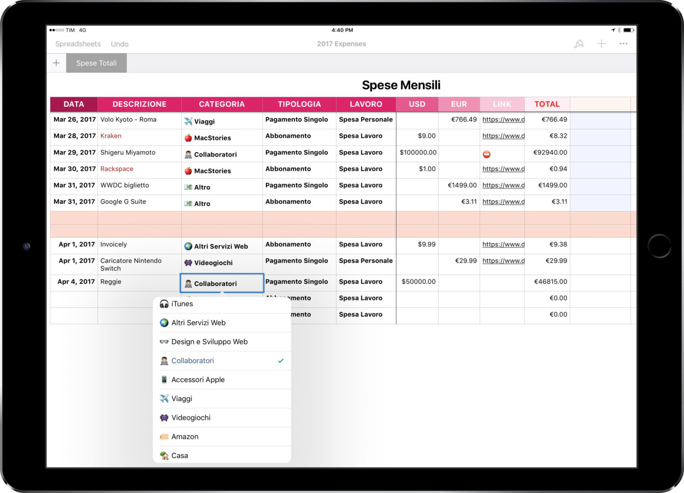 Numbers Spreadsheet App Pertaining To Ipad Diaries