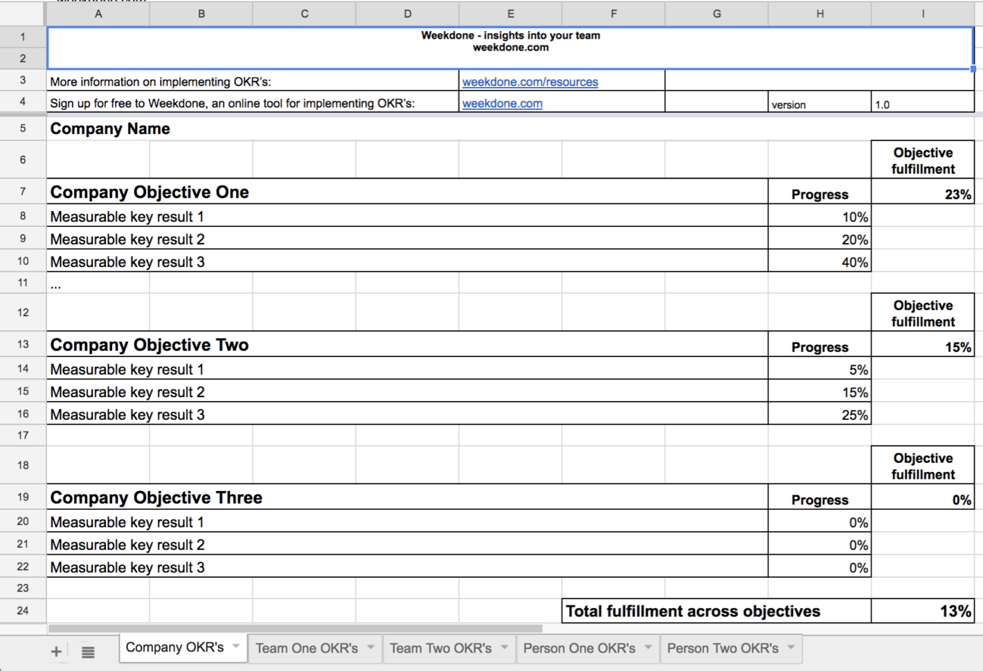 Okr Spreadsheet Spreadsheet Downloa Okr Spreadsheet Excel
