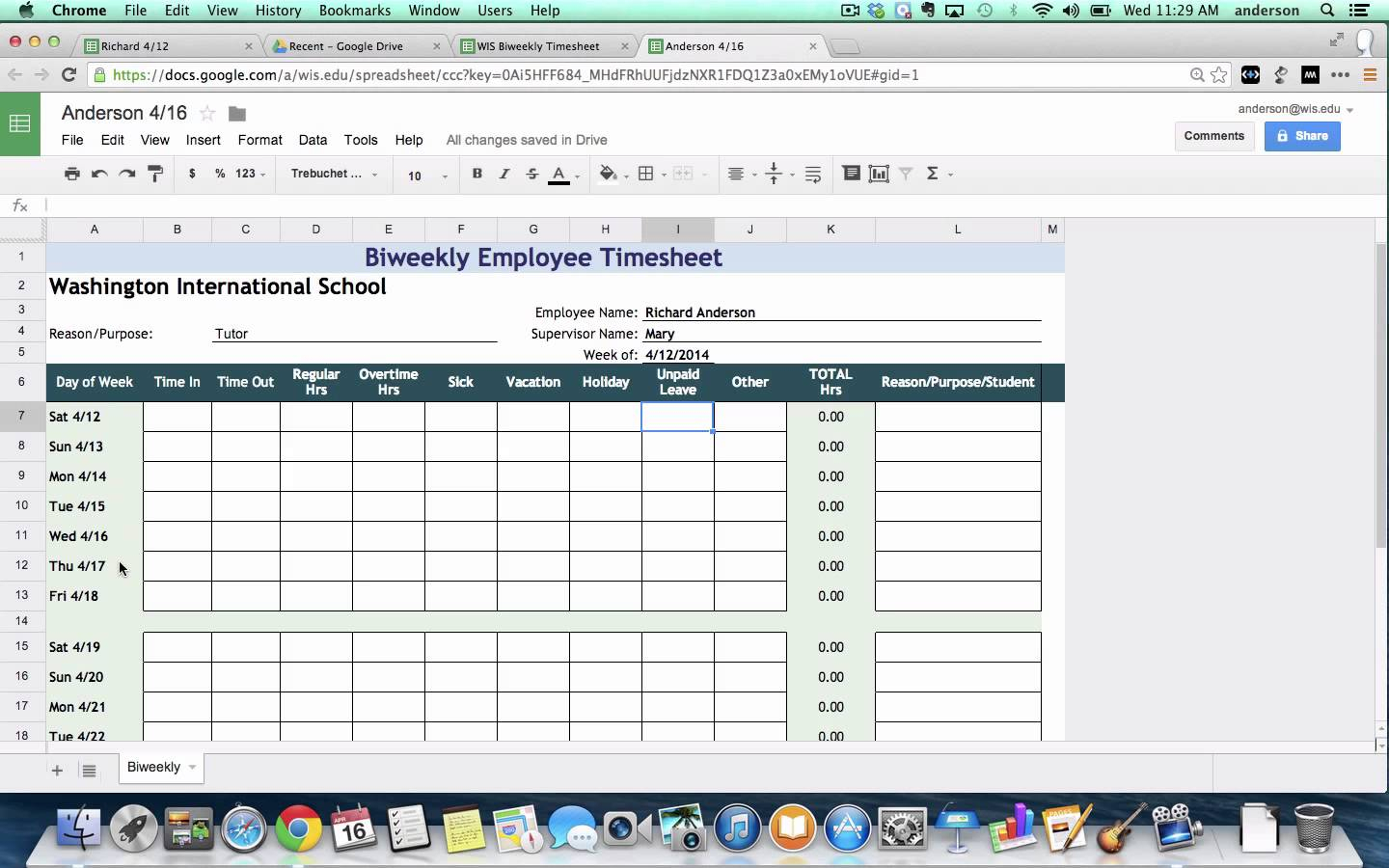 Overtime Tracking Spreadsheet Pertaining To Overtime