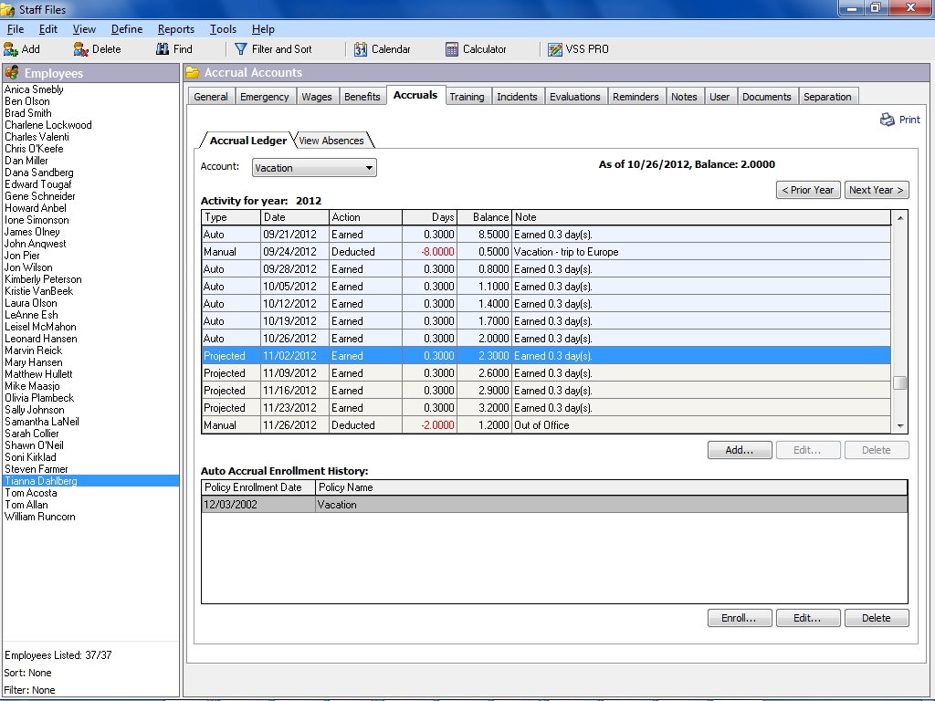 Paid Time Off Accrual Spreadsheet Db Excel